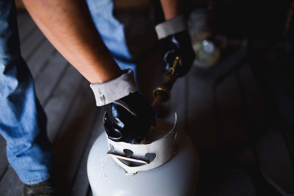 Refilling Propane Cylinder